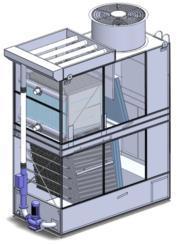 板片不锈钢蒸发式冷凝器WFL-3.0F