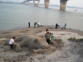 沙雕艺术品