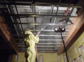 无机纤维喷涂电梯井隔声吸声隔音吸音降噪