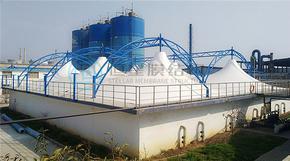 污水池加盖_污水池加盖的作用_膜结构加盖