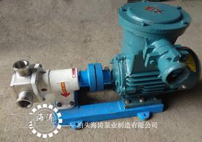 柔性转子泵,挠性泵,不锈钢食品卫生泵,吸力大体积小