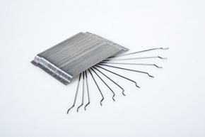 冷拉型端钩粘排钢纤维 联排钢纤维