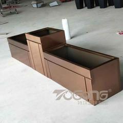仿古铜组合式不锈钢花箱花盆厂家定制