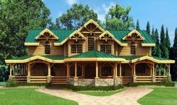 双层木屋、重型木屋、木结构别墅
