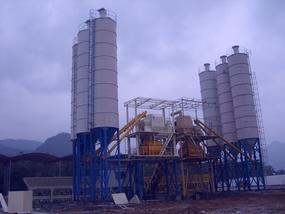 龙鼎HZS75中小型混凝土搅拌站
