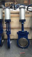 PZ673X电控气动刀闸阀、气动刀型耐磨闸板阀
