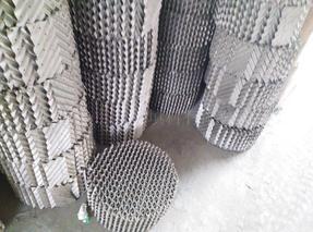 定做各种不锈钢孔板波纹填料 丝网波纹填料 网孔波纹填料