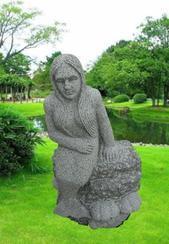 园林石美人鱼石雕GGP194