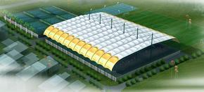 湖南网球场膜结构,门球场,羽毛球馆顶棚,篮球场膜结构
