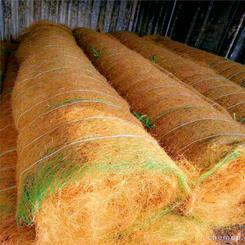 河道护坡推荐三维椰丝抗冲生态保护毯