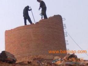 拆除50米砖烟囱工程