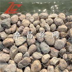防汛铅丝笼护坡 镀锌铅丝笼 高尔凡雷诺护垫护岸