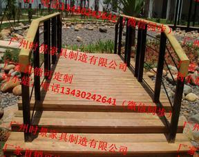 旅游湖边安全木制护栏,景区保护栏