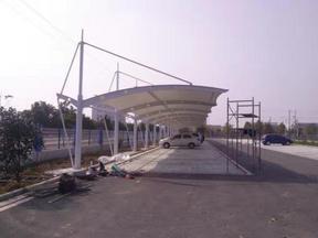 营邦钢结构膜结构工程停车棚看台