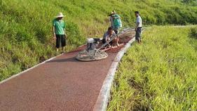 惠州彩色透水混凝土路面价格