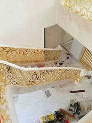 铜铝雕刻楼梯护栏05