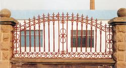 供应铁艺护栏,铁艺栏杆铁艺围墙,旭东制造商