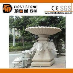 花岗岩大象雕刻花盆GGV309