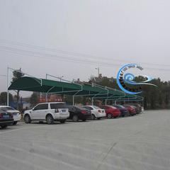 隔热张拉膜结构停车遮阳雨棚厂家
