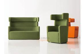 公共休闲区接待沙发椅 休闲商务接待沙发卡座