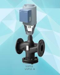 西门子球铁二通水/汽阀VVF53.80-100蒸汽阀