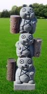 花岗岩熊猫雕刻GAB531