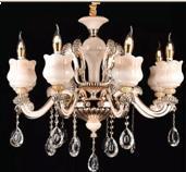 欧式led水晶吊灯水晶灯客厅灯现代玉石水晶灯大厅别墅灯饰