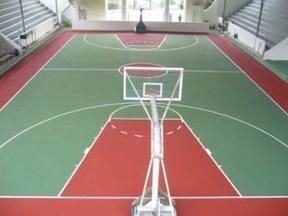 天津硅PU塑胶篮球场施工铺设