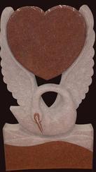 混合花岗岩墓碑石GME101