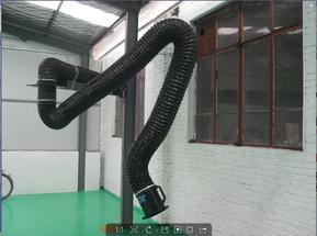 万向柔性吸气臂厂家焊接车间可悬停柔性排气罩