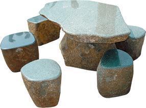 浅绿花岗岩桌椅套件GCF415A+415B