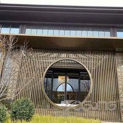户外中式廊架不锈钢屏风花格厂家定制