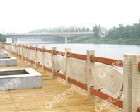 复合护栏,石木护栏,河道护栏
