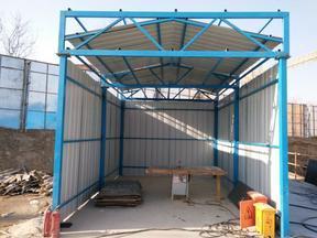 山东省济南市工地用防风活动房厂家可回收焊接式活动房