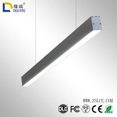 LED线条灯长方形吊灯 长条铝材商业照明长条灯 led吊线灯办公吊灯