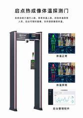黑龙江学校红外测温设备,红外热成像人体测温布控系统,热成像测温门