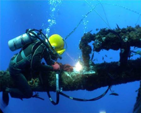 承接水下管道安装,水下焊接堵漏工程