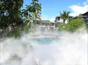 人造雾特点,雾细,雾大用于景观造景,撞击式雾化美