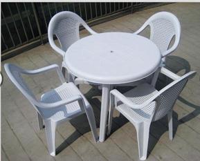 大排档专用塑料桌椅沙滩桌椅烧烤用塑料桌