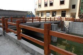 景区打造水泥仿木栏杆