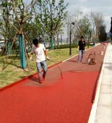 彩色透水混凝土道路,上海誉臻透水地坪新材料科技公司