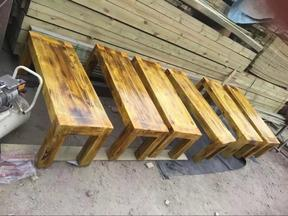 德州防腐木桌椅家具批发