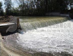天元装备气盾坝厂家价格 橡胶坝改造气盾钢坝设计 安装