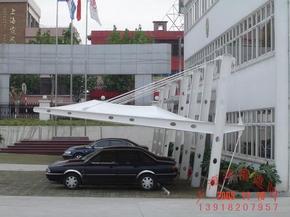 上海膜结构停车蓬报价车棚安装膜结构停车棚设计厂家