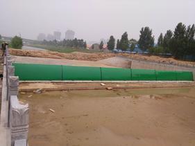 郑州十八里河绿色液压升降坝,百川液压坝世界领先活动坝