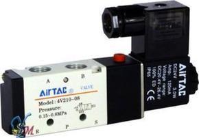 代理亚德客电磁阀4V220-08-AC220V