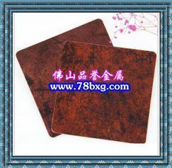 仿古做旧不锈钢镀铜发黑板 不锈钢拉丝古铜发黑镀铜板