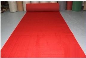 欣旺牌 婚庆红地毯 商用宴会红地毯 一次性地毯 展会展览地毯