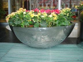 铁艺户外花箱组合长方形绿化种植商业花槽