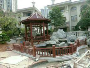 青岛别墅庭院花园景观设计施工